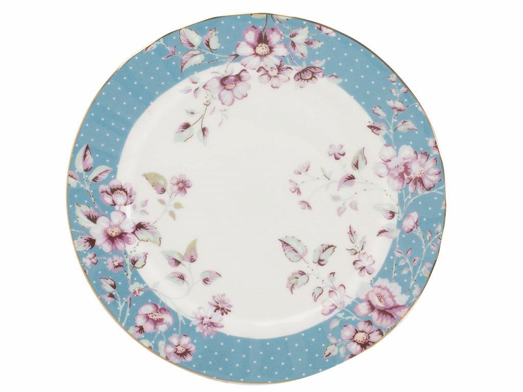 Dezertní talíř Ditsy modrý