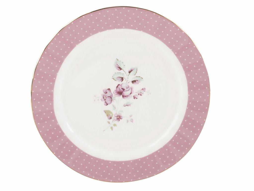 Dezertní talíř Ditsy růžový od Katie Alice
