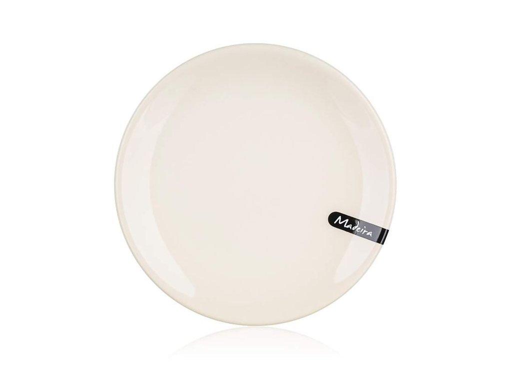 Talíř - talíř d20cm dezertní, MADEIRA natural, keramika