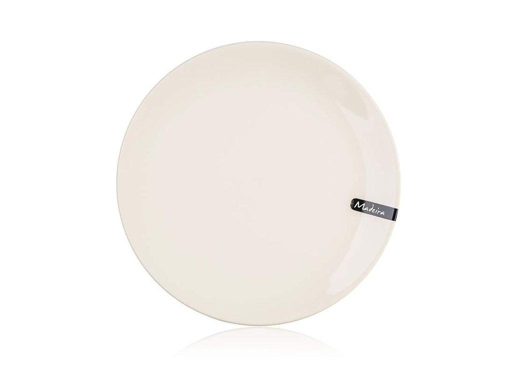 Talíř - talíř d26,5cm mělký, MADEIRA natural, keram.