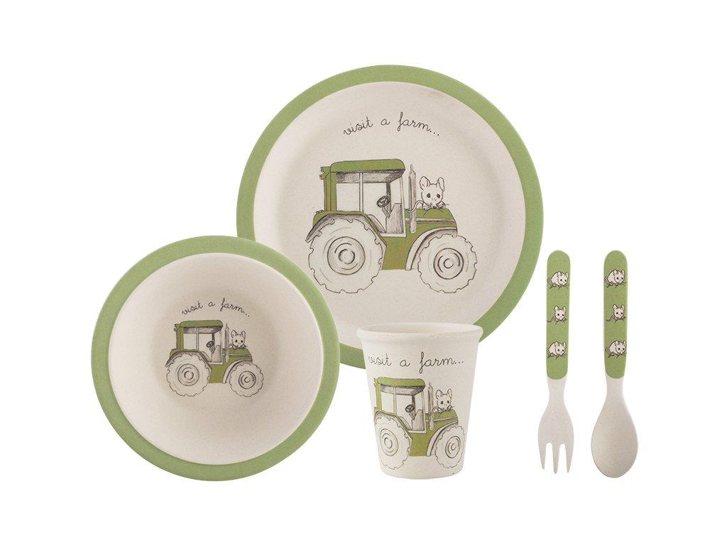 Creative Tops - Dětský jídelní set Tractor /22*22*19 cm/