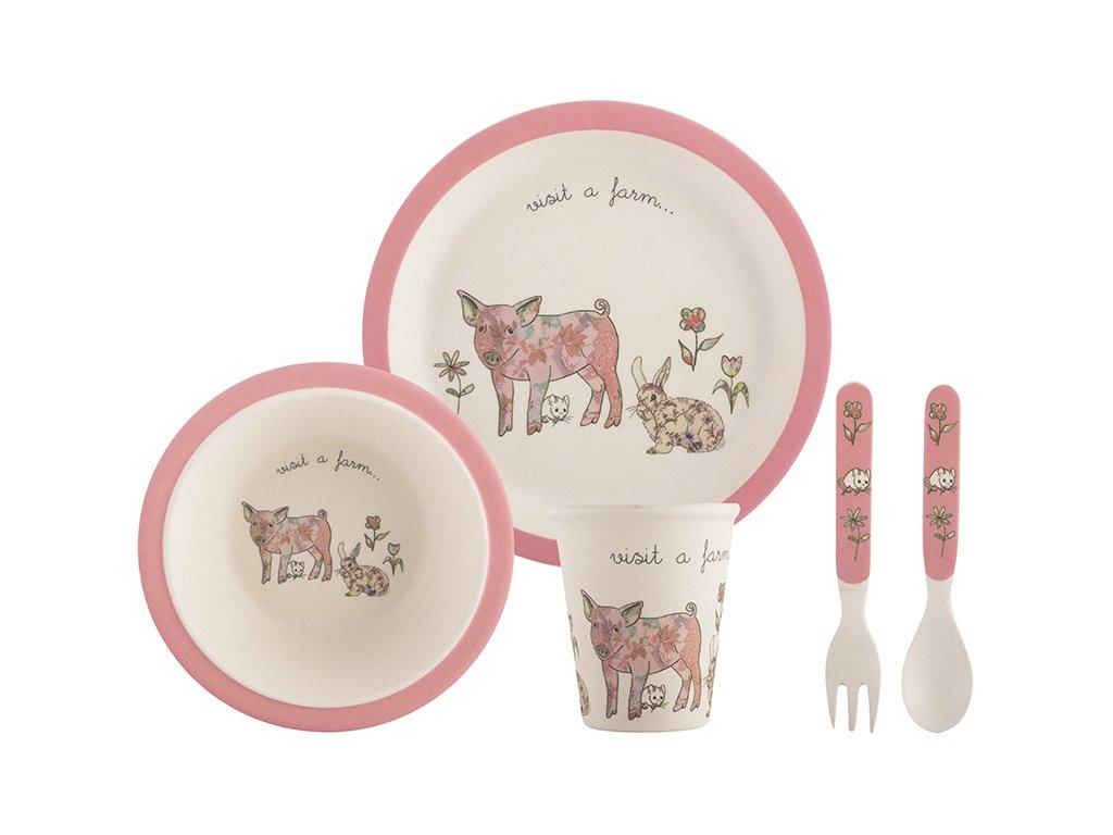 Creative Tops - Dětský jídelní set Pig /22*22*19 cm/
