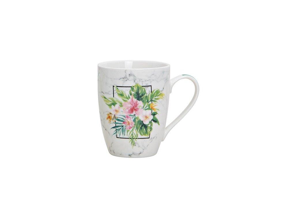 G.WURM - Porcelánový hrníček TROPICAL FLOWER - 345 ml