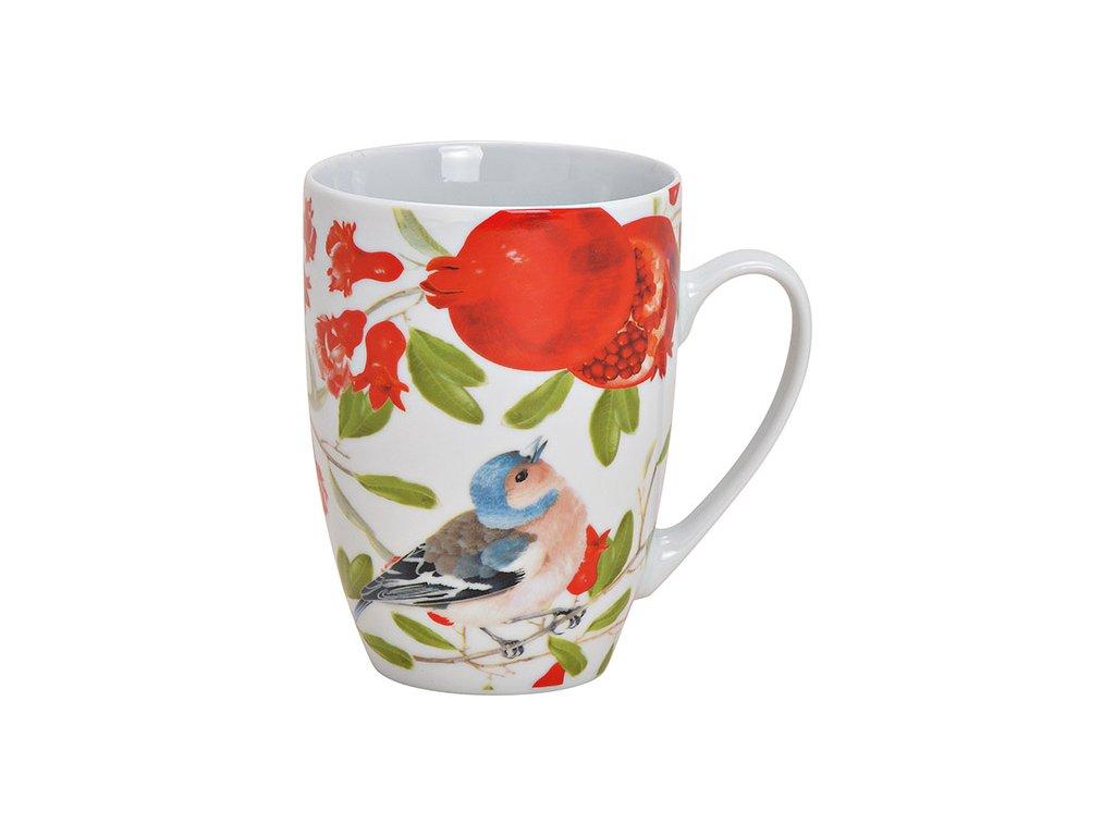 G.WURM - Porcelánový hrníček s ptáčkem BIRD FLOWER - 400 ml