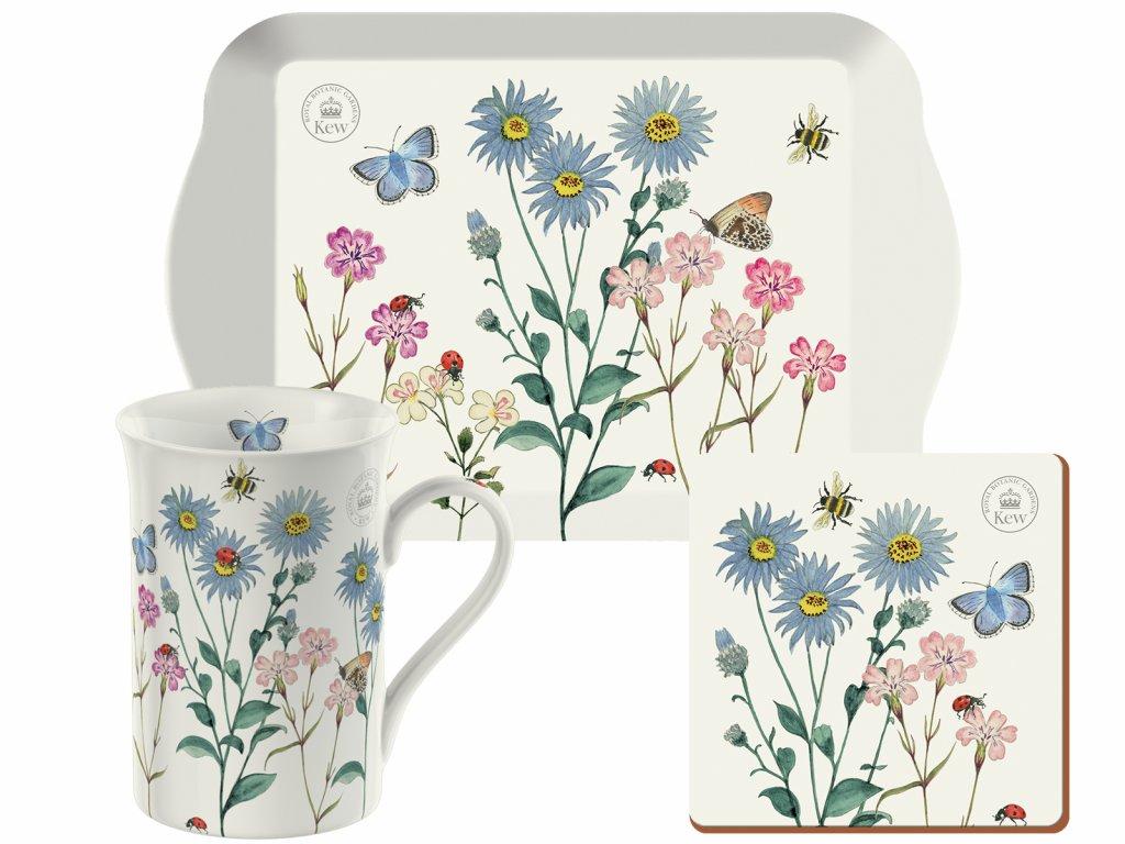 Creative Tops - Porcelánový hrnek s táckem Meadow Bugs /21*8,4*14,5 cm/