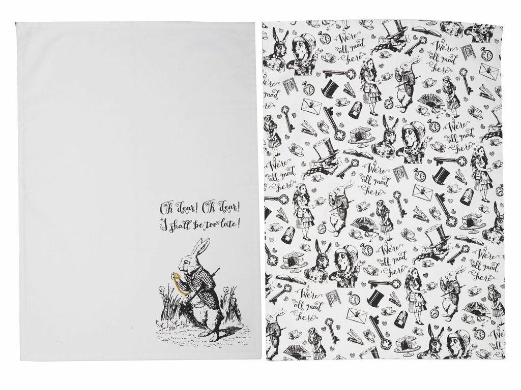 Creative Tops - Kuchyňské utěrky Alice In Wonderland /70*20,5 cm/