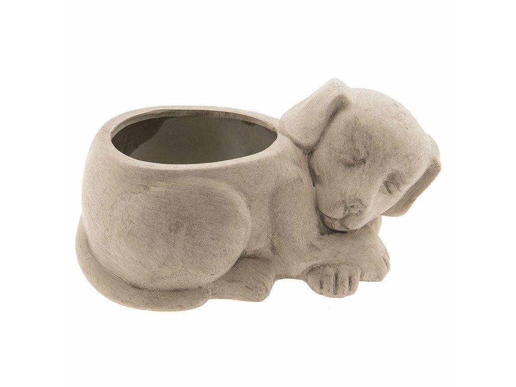 Clayre & Eef - Květináč DOG spící pejsek - 29*17*15 cm