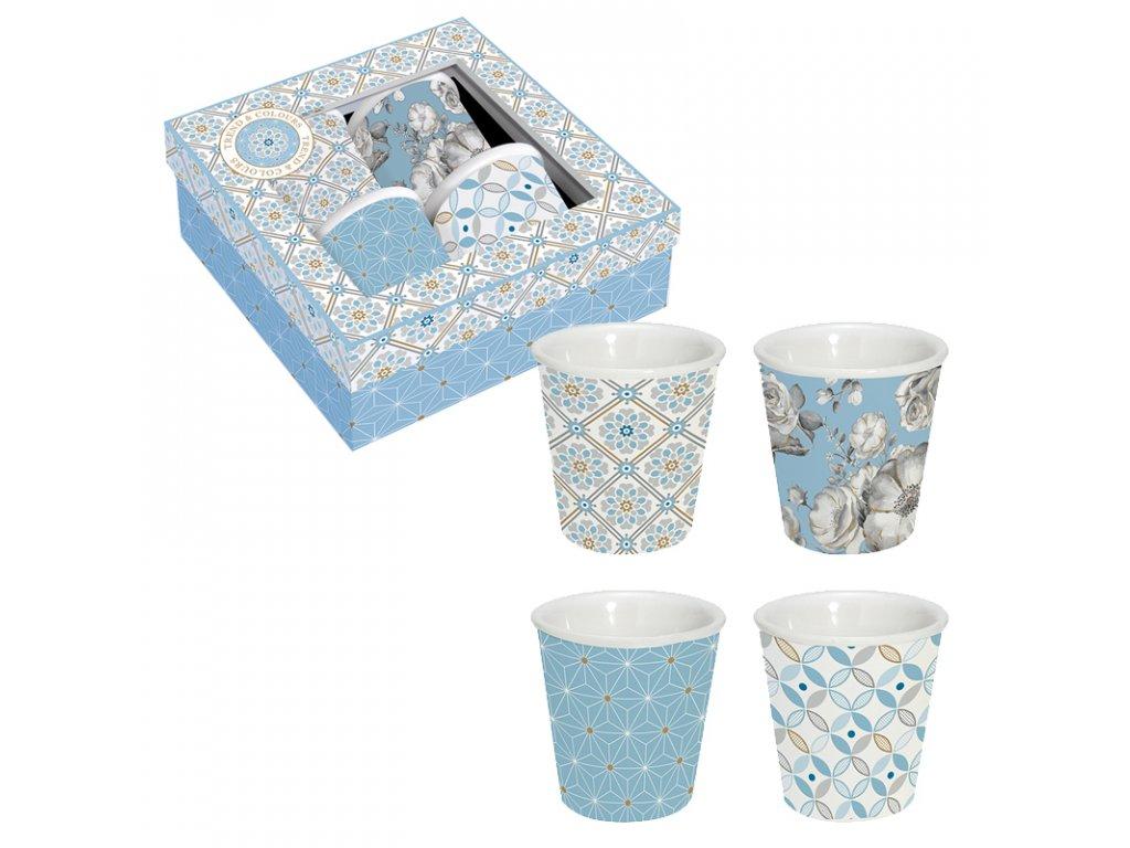 Easy Life - Porcelánové hrnky Light Blue na espresso - 4*100 ml