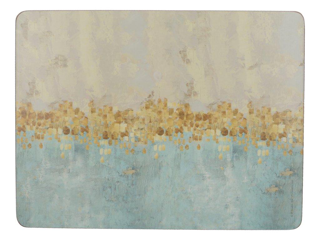 Creative Tops - Korkové prostírání Golden Reflections malé /30*23 cm/ - 6 ks v balení