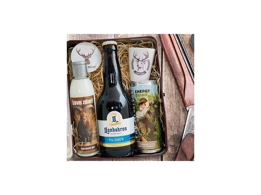 Bohemia Gifts Dárkový plechový box pro myslivce