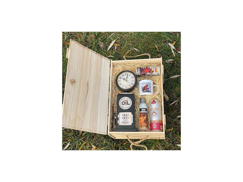 Bohemia Gifts Dárkový dřevěný box pro hasiče - uhas žízeň