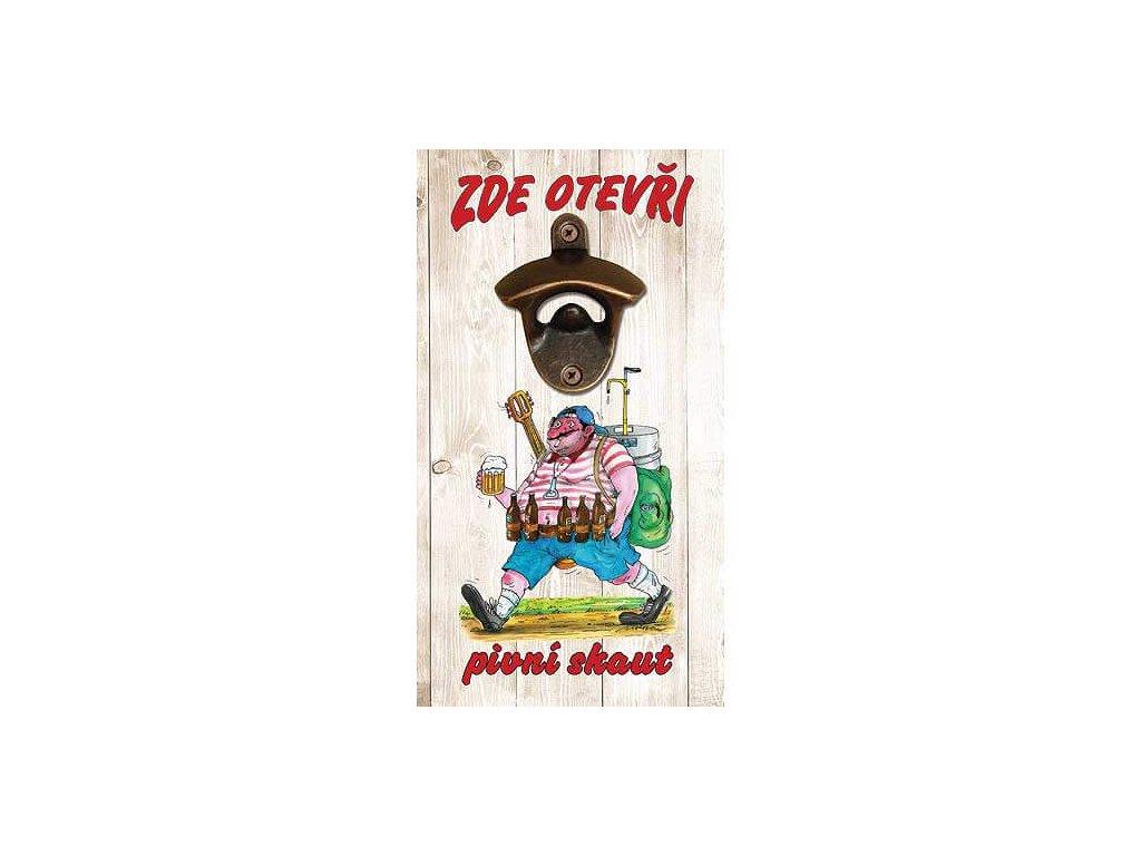 Bohemia Gifts Otvírák na lahve na zeď - pivní skaut