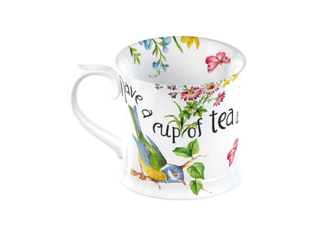 Creative Tops - Porcelánový hrnek English Garden s ptáčkem od Katie Alice - 350 ml