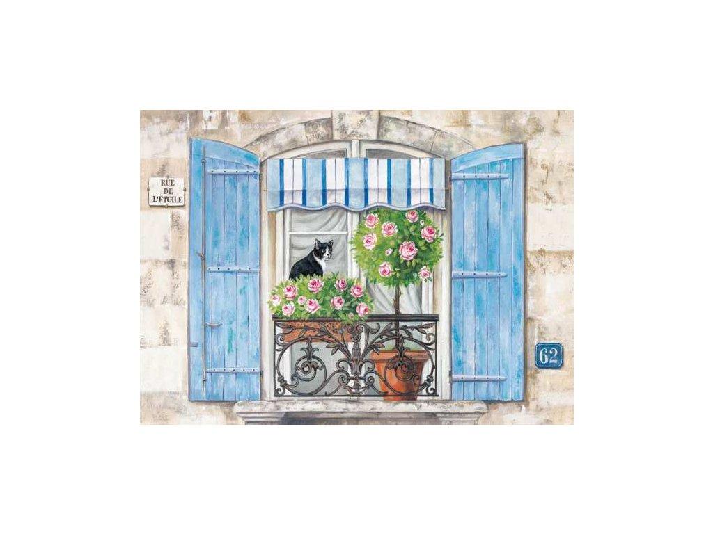 Korkové prostírání S/4ks RY-255 Modré okno - velké - 40*29 cm