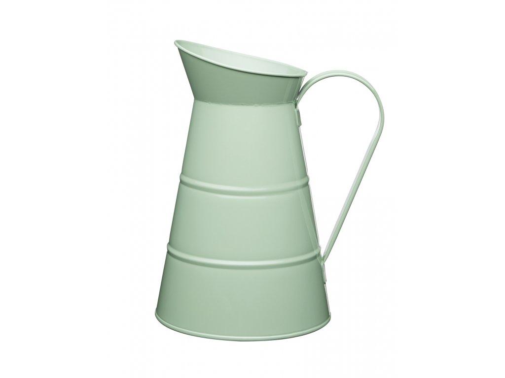 Kitchen Craft - Plechová konev Living Nostalgia - zelená /25*16*16 cm/ - Obejm je 2,3 l.
