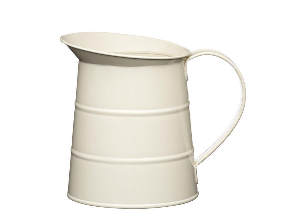 Kitchen Craft - Plechová konev Living Nostalgia malá - krémová  /15*12*12 cm/ - Objem je 1,1 l.