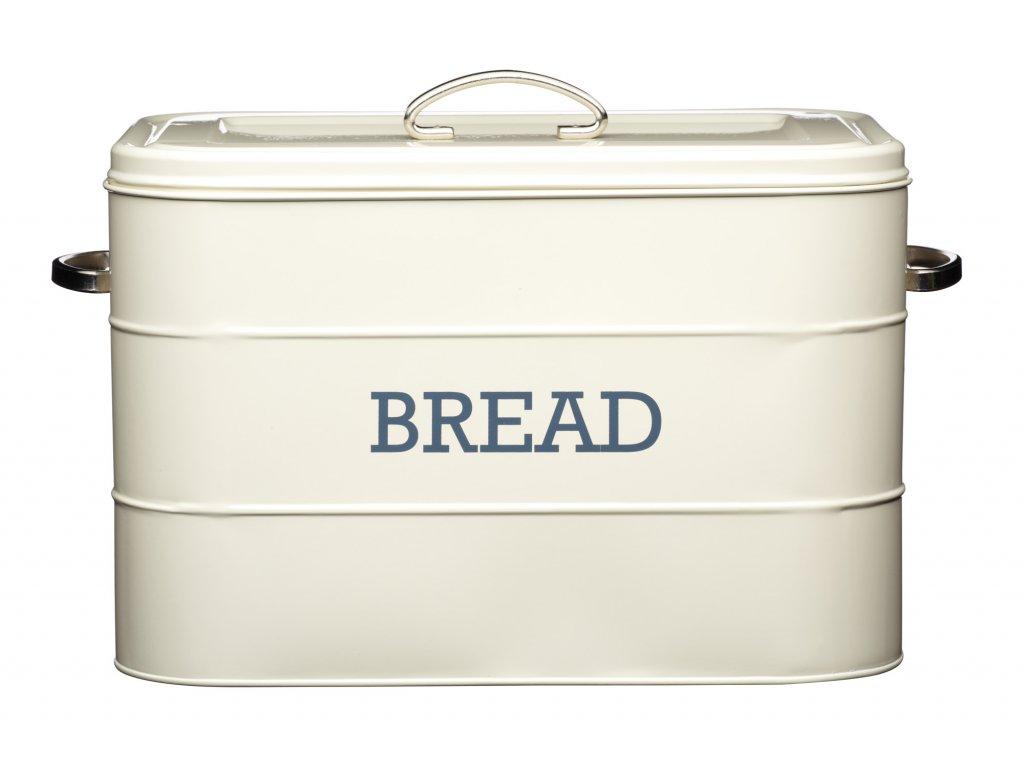 Kitchen Craft - Plechová dóza Living Nostalgia na chleba - krémová /34*21,5*25 cm/