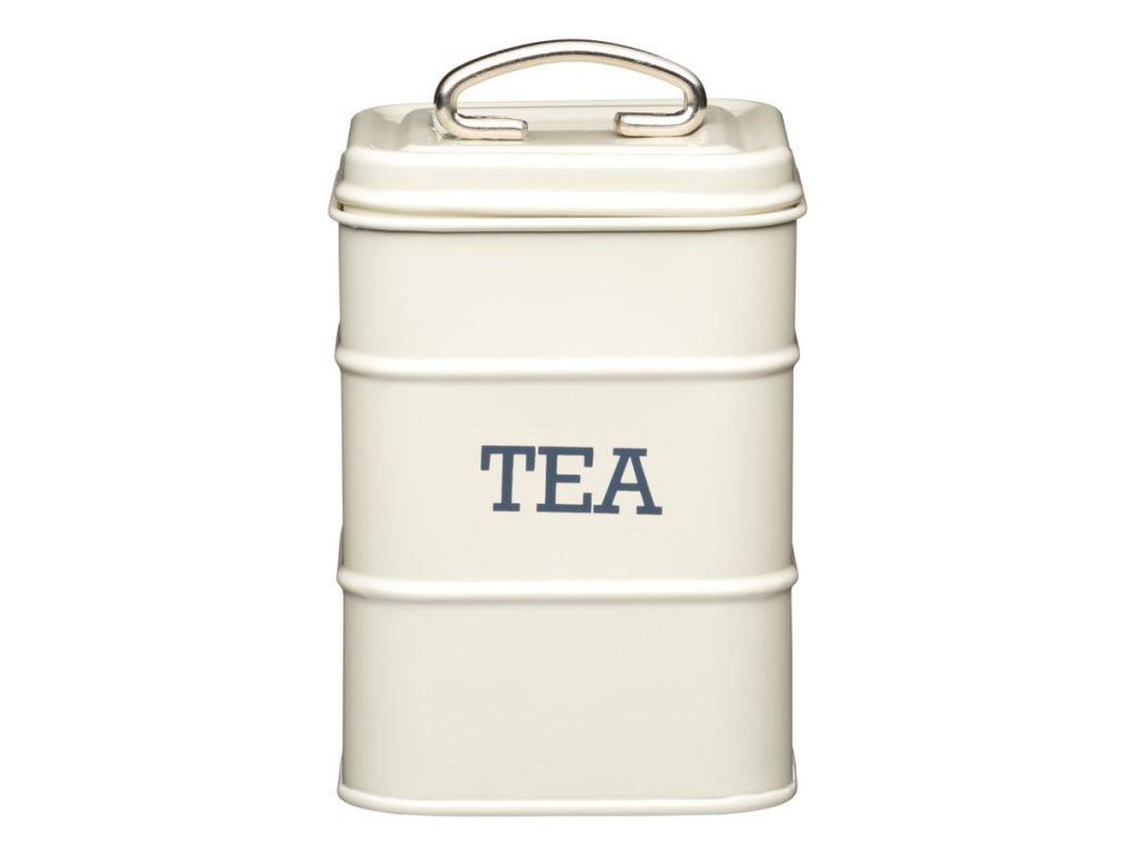 Kitchen Craft - Plechová dóza Living Nostalgia na čaj - KRÉMOVÁ