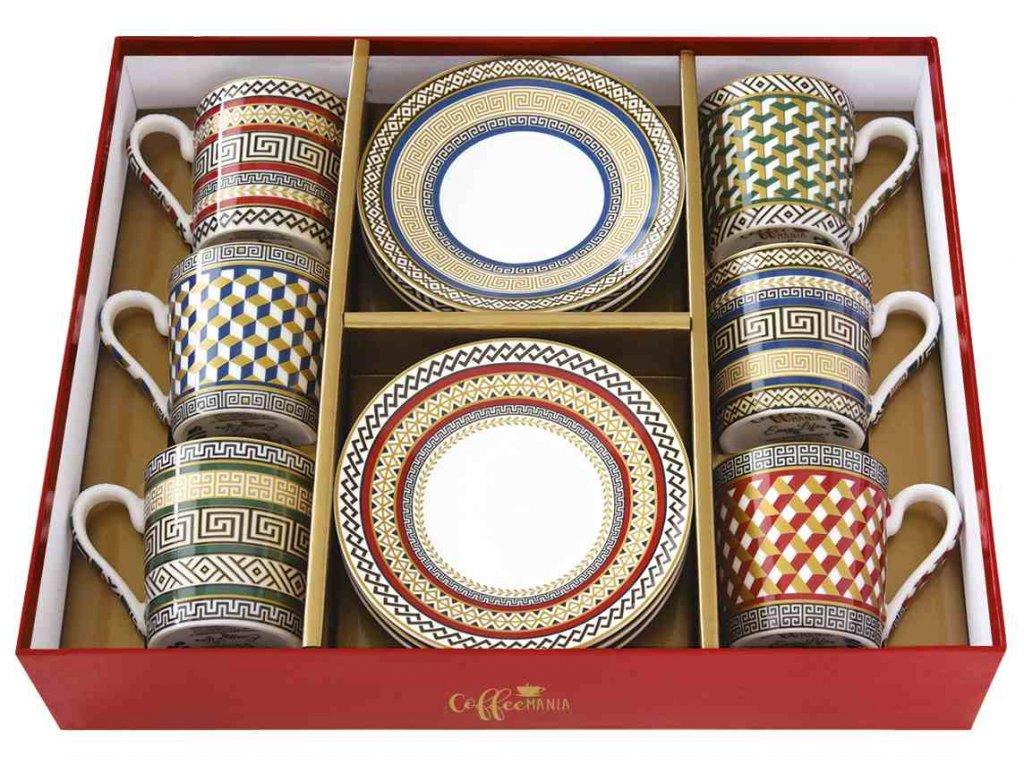 Easy Life - Porcelánové šálky a podšálky na kávu Neoclassic - 6*100 ml