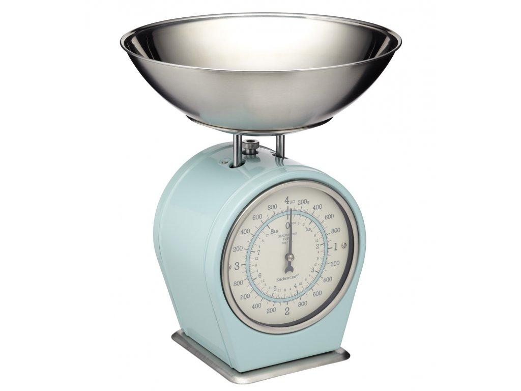 Kitchen Craft - Kuchyňská váha Living Nostalgia modrá /30*24*24 cm/
