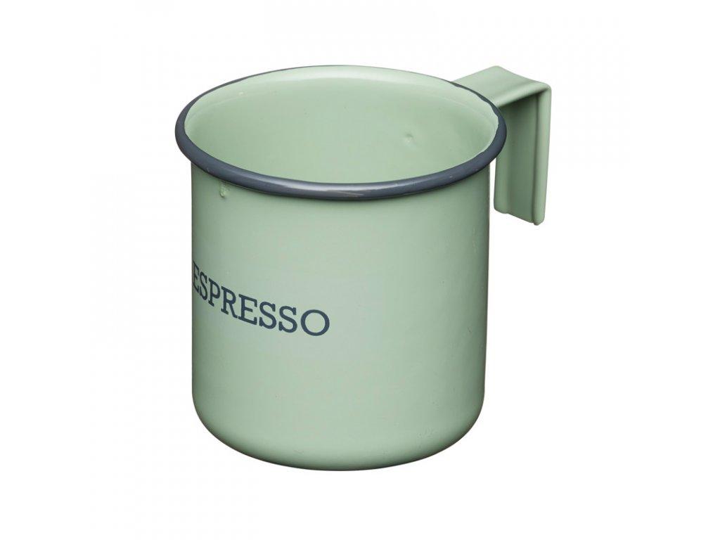 Kitchen Craft - Plechový hrnek Living Nostalgia na espresso zelený - Objem je 75 ml.