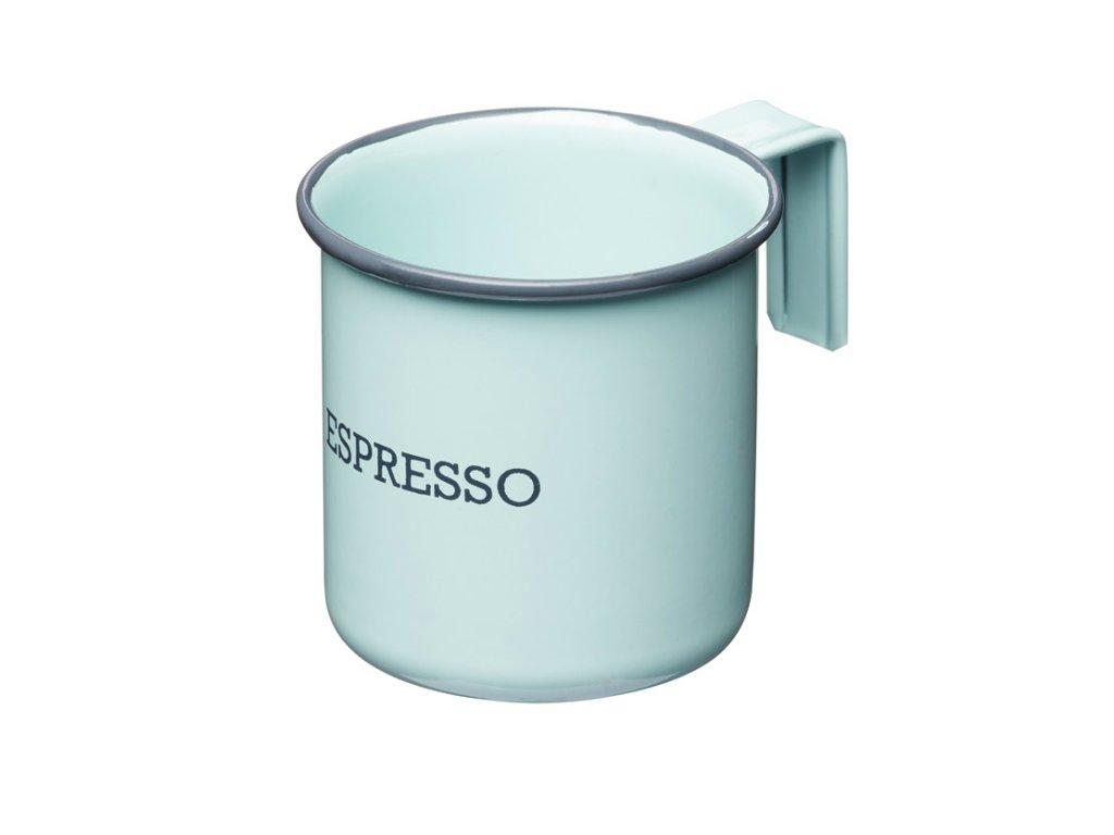 Kitchen Craft - Plechový hrnek Living Nostalgia na espresso modrý - Objem je 75 ml.