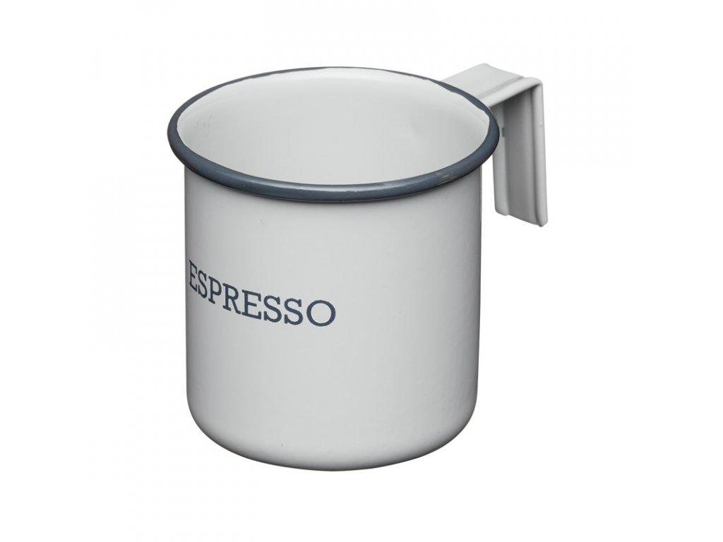 Kitchen Craft - Plechový hrnek Living Nostalgia na espresso šedý - Objem je 75 ml.