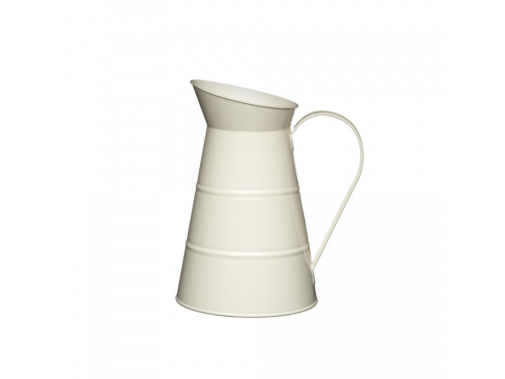 Kitchen Craft - Plechová konev Living Nostalgia krémová /25*16*16 cm/ - Objem je 2,3 l.