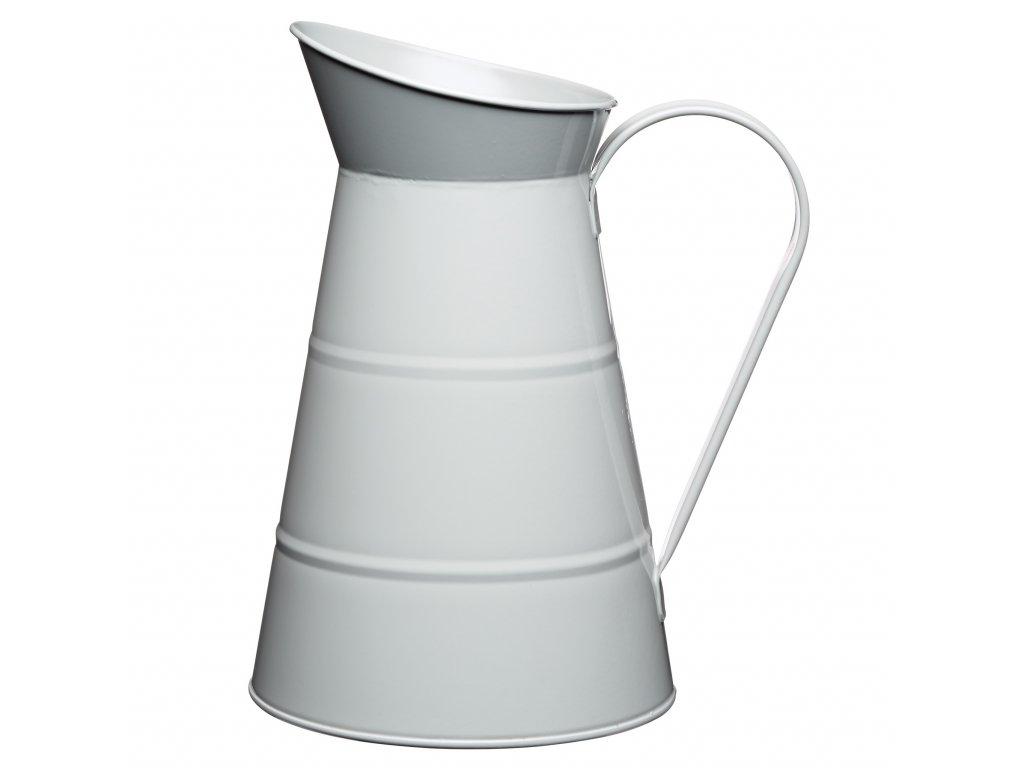 Kitchen Craft - Plechová konev Living Nostalgia šedá /25x16x16 cm/ - Objem je 2,3 l.