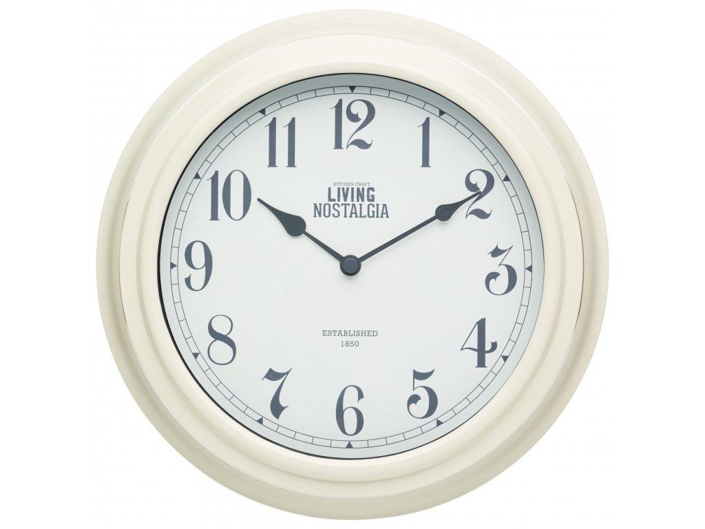Kitchen Craft - Nástěnné hodiny Living Nostalgia krémové /25,5*25,5 cm/