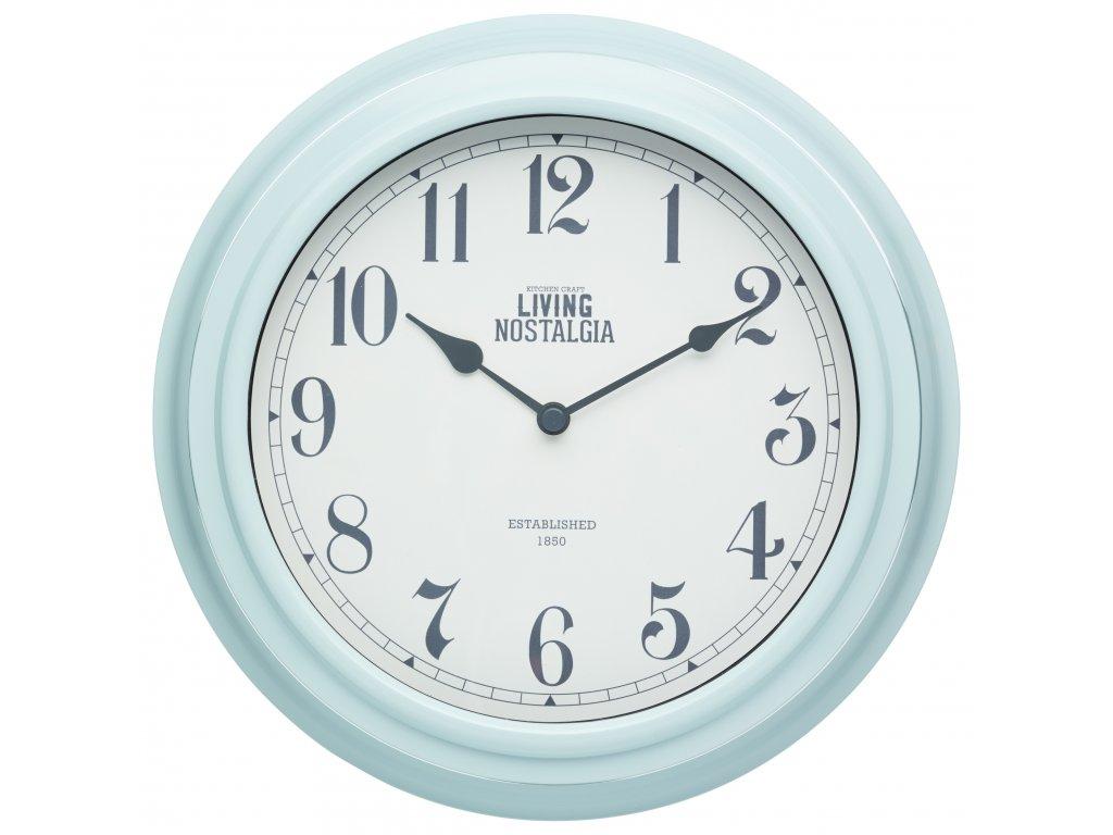 Kitchen Craft - Nástěnné hodiny Living Nostalgia modré /25,5*25,5 cm/