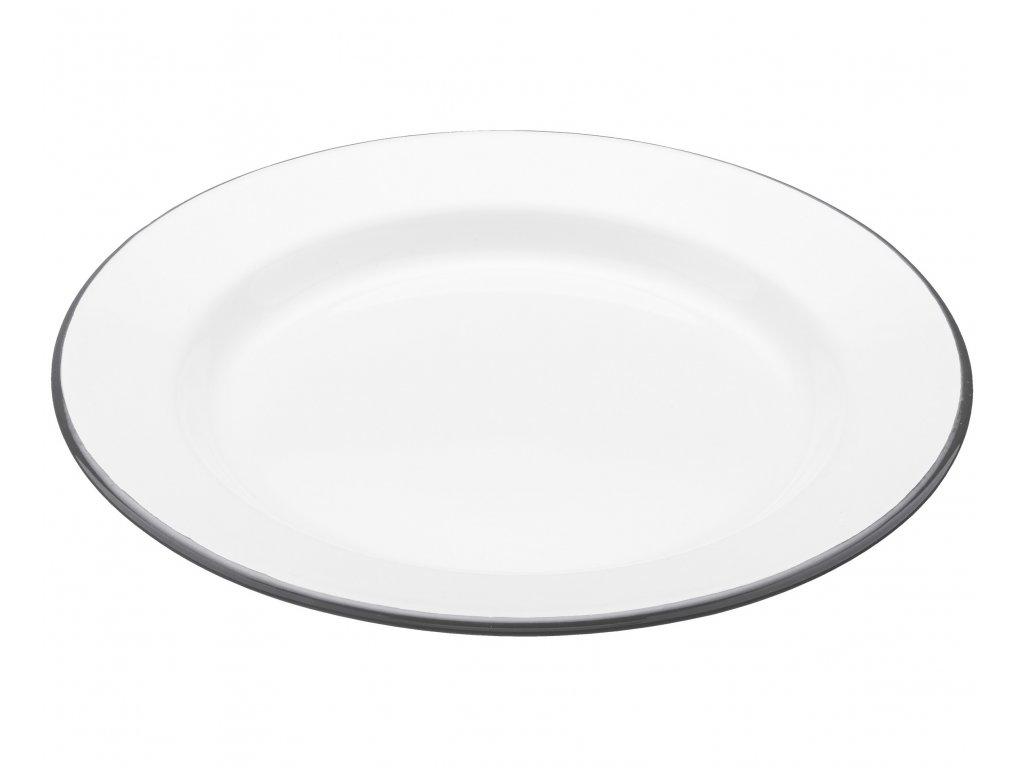 Kitchen Craft - Smaltovaný jídelní talíř Living Nostalgia bílý /24x24 cm/