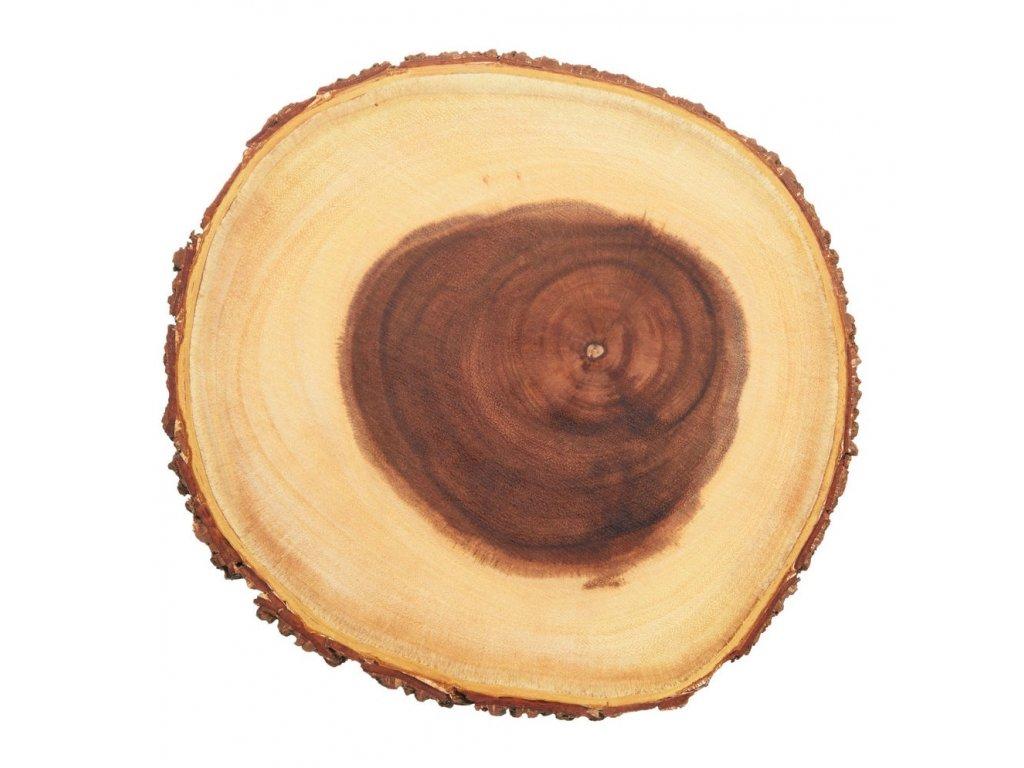 Kitchen Craft - Rustikální dřevěné servírovací prkénko malé /25*25*3 cm/