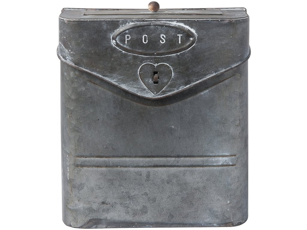 Kovová poštovní RETRO schránka