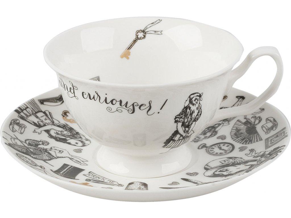 Creative Tops - Porcelánový šálek a podšálek Alice In Wonderland - 210 ml