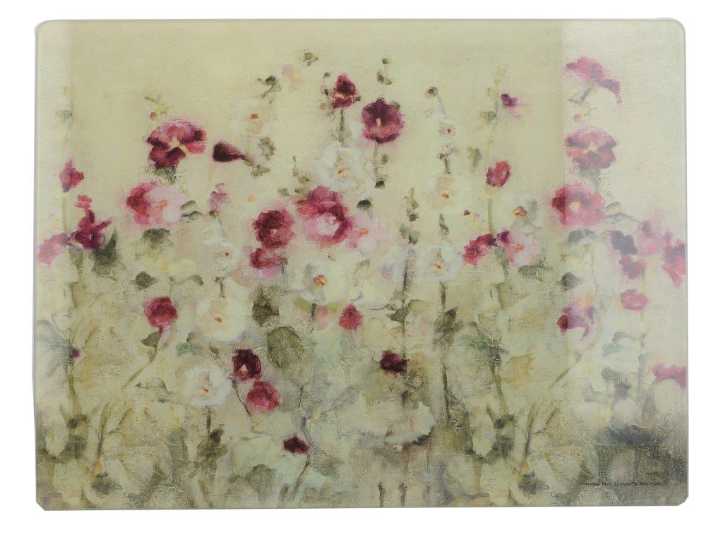 Skleněné krájecí prkénko Wild Field Poppies