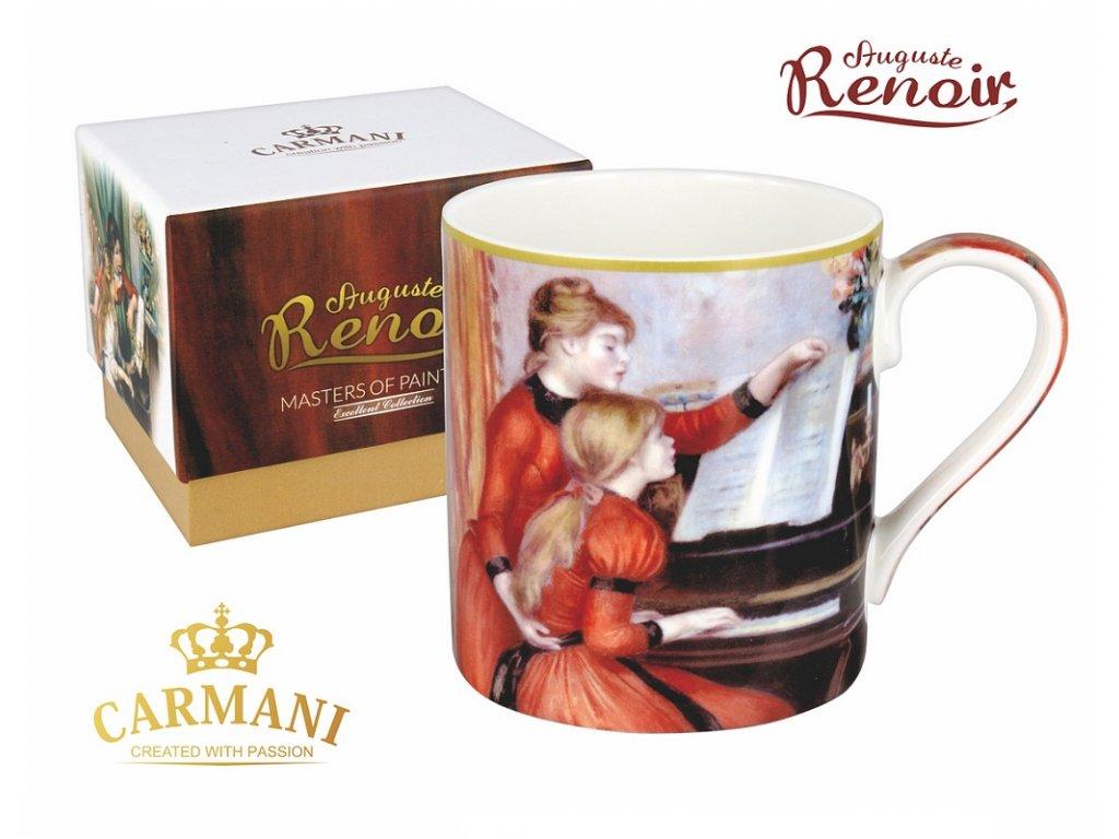 """Carmani - Porcelánový hrnek Auguste Renoir """"U klavíru"""" v dárkové krabičce - 380 ml"""