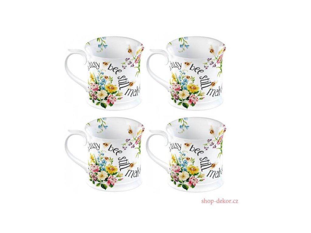 Creative Tops - Sada Porcelánových hrnků English Garden s květy - 4*350 ml