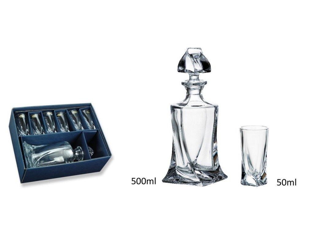 Likérový set Shot Quadro 1+6 - 6*50 ml + láhev - 500 ml