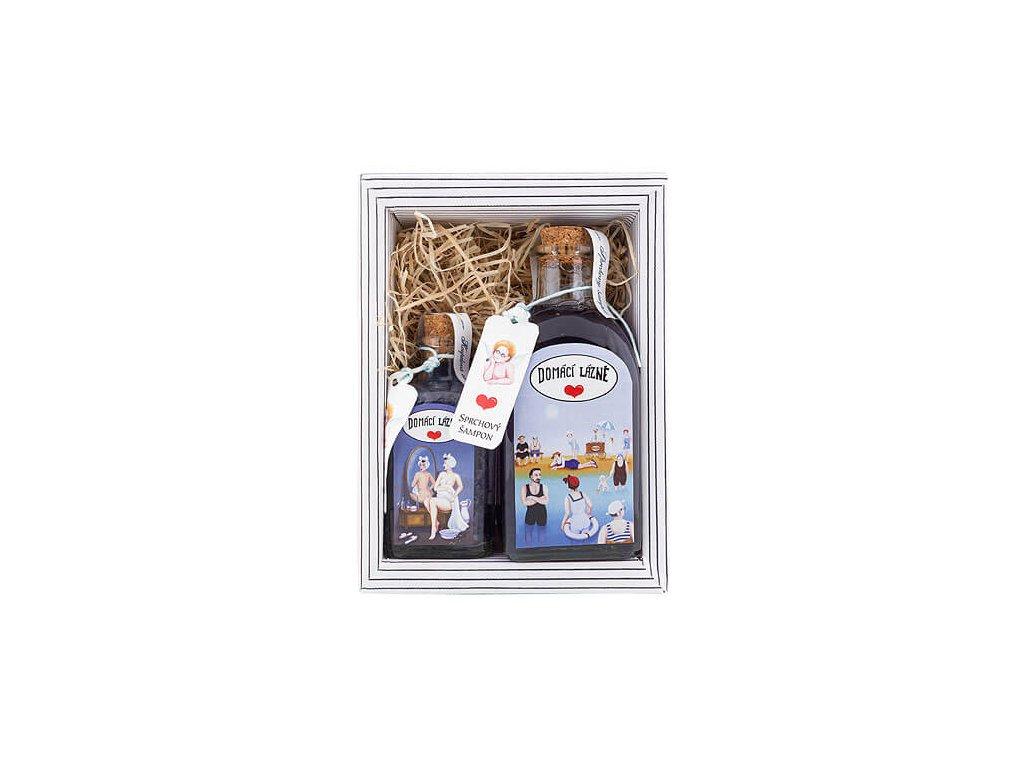 Bohemia Gifts Kosmetická sada Domácí lázně – sprchový šampon 250ml a sůl 110 g