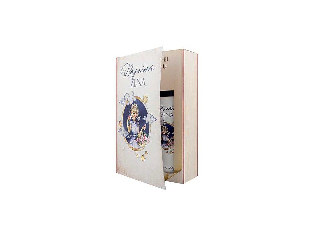 Bohemia Gifts Sada kniha báječná žena – sprchový gel 200 ml a lázeň 200 ml
