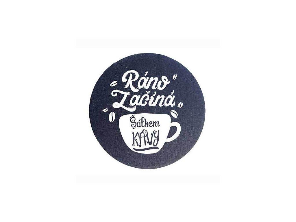 Bohemia Gifts Kameninové podtácky 2 ks 10cm - šálek kávy