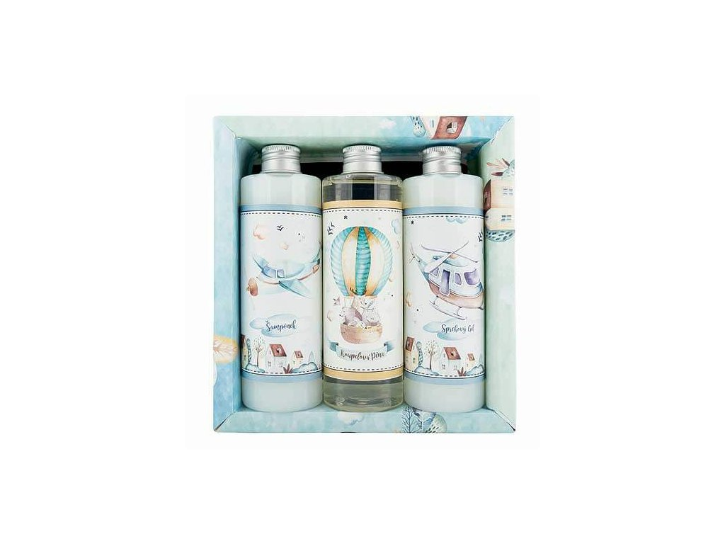 Bohemia Gifts Sada pro kluky XL – gel 250 ml, šampon 250 ml a pěna 250 ml