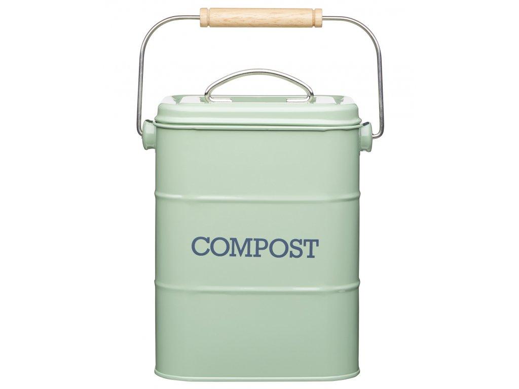 Kitchen Craft - Plechový kompostér Living Nostalgia zelený