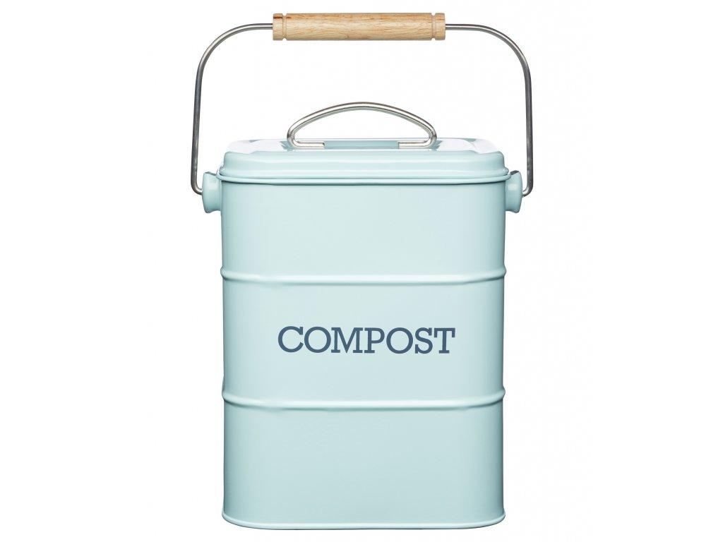 Kitchen Craft - Plechový kompostér Living Nostalgia modrý