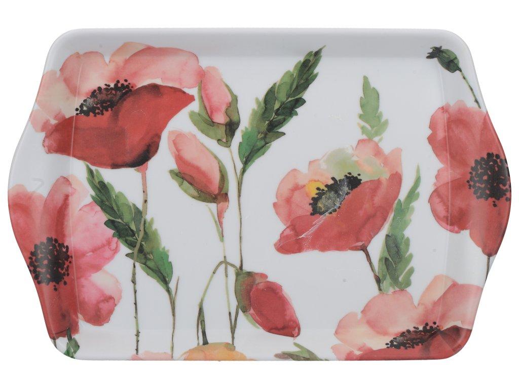 Creative Tops - Melaminový tácek Watercolour Poppies mini - 21*14 cm