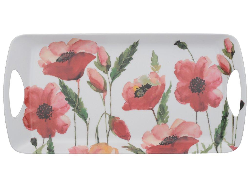 Creative Tops - Melaminový tácek Watercolour Poppies malý /38*20 cm/