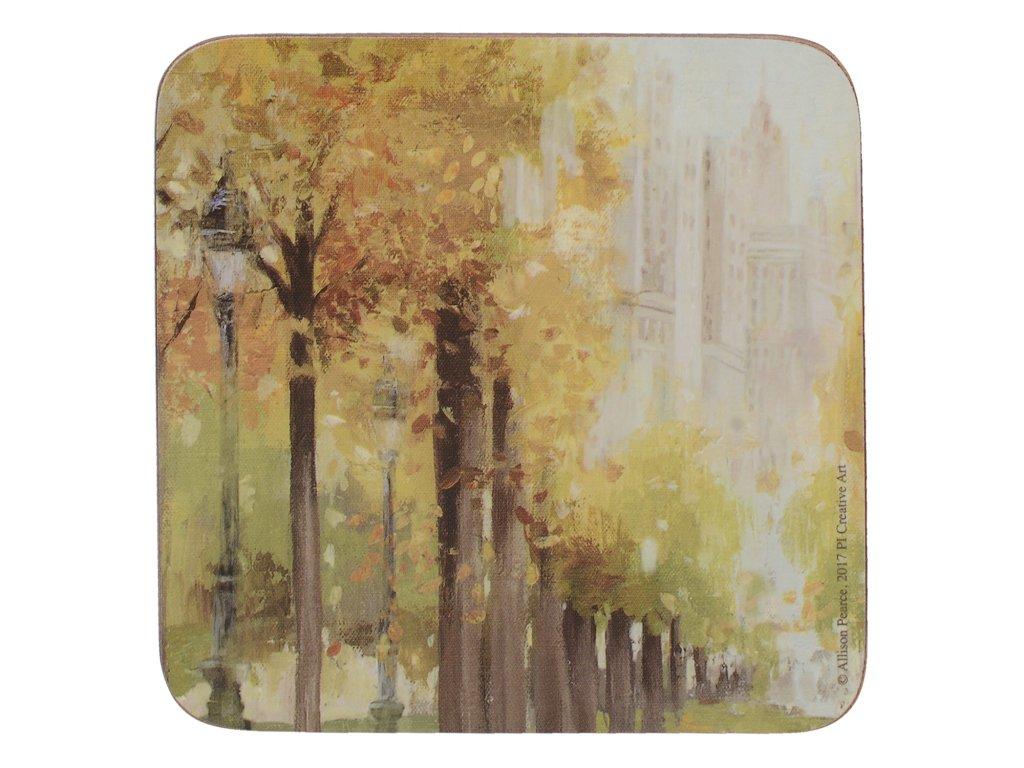 Creative Tops - Korkové podložky Central Park /10*10 cm/ - 6 ks v balení
