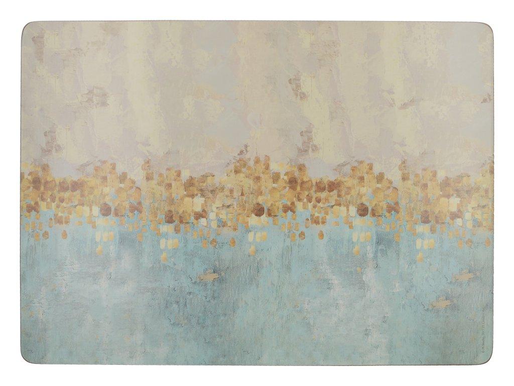 Creative Tops - Korkové prostírání Golden Reflections velké /40*29 cm/ - 4 ks v balení