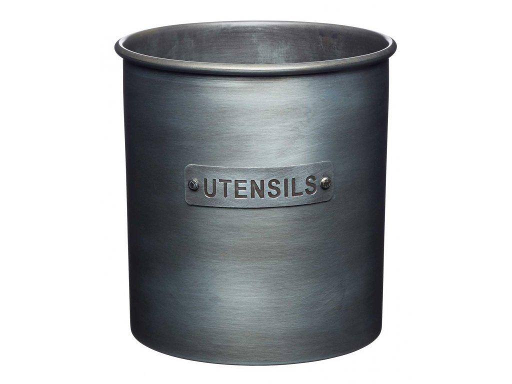 Kitchen Craft - Kovová dóza na kuchyňské náčiní Industrial Kitchen šedý /14*14*14,5 cm/